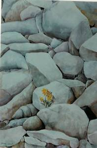 Life Series # 5. Watercolour. Copyright 2009 Nellie Jacobs