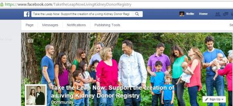 Facebook Take the Leap Support Registry