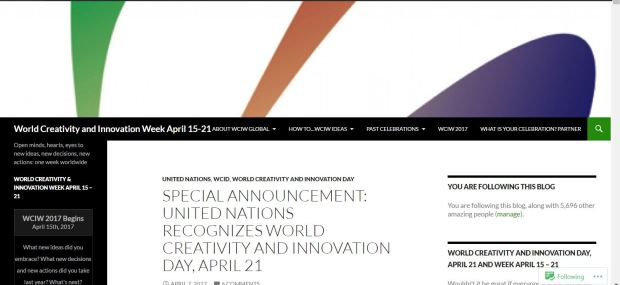 World Creativity and Innovation Day April 21